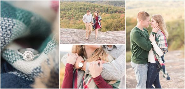 bald rock south carolina engagement session